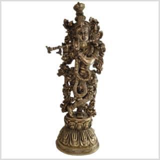 Krishna Lotus 51cm 8kg Messing Vorne