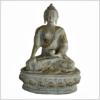 Erdender Buddha 33cm hellgrün antik Vorne
