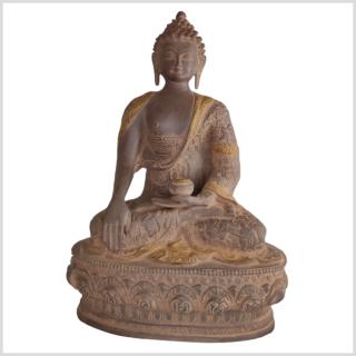 Erdender Buddha 33cm rostbraun vorne
