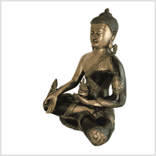 Medizinbuddha Ashtamangala 6kg antikgrün Seite links