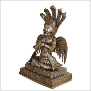 Nag Kanya Messing Silber 32cm Seite links