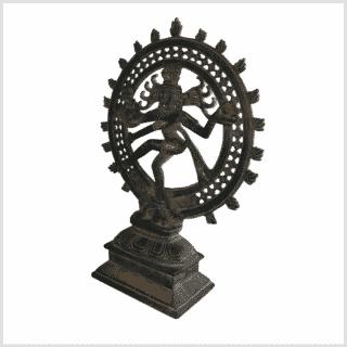 Shiva Nataraja altgrün 31cm Seite links