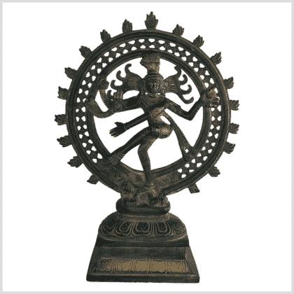 Shiva Nataraja altgrün 31cm vorne