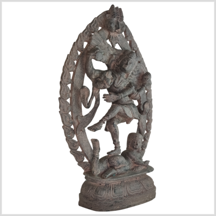 Shiva Nataraja 41cm Messing steingrau Seite rechts