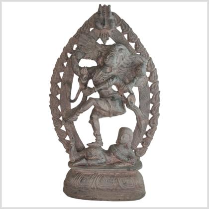 Shiva Nataraja 41cm Messing steingrau vorne