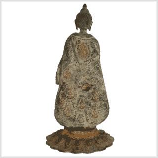 Stehender Buddha 28,5cm grünantik hinten