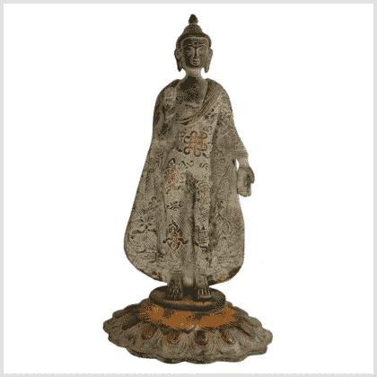 Stehender Buddha 28,5cm grünantik Vorne