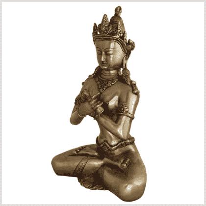 Vajradhara 32cm Messing Seite links