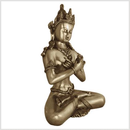 Vajradhara 32cm Messing Seite rechts