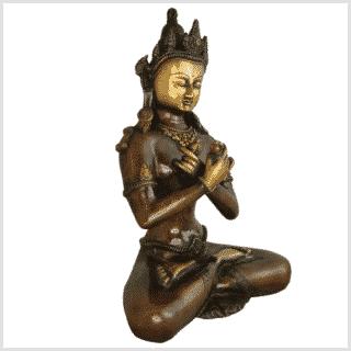Vajradhara 32cm braungold Seite rechts
