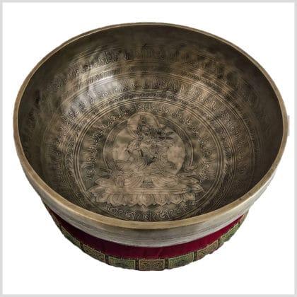 Herzchakra Klangschale Wurzelchakraklangschale Weiße Tara 5700g Seitlich