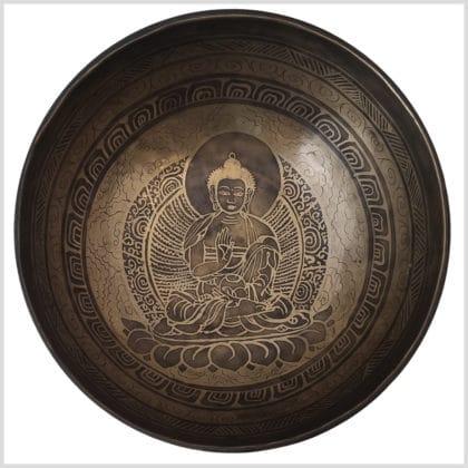 Sakralchakra Klangschale Segnender Buddha 1829g Innenansicht
