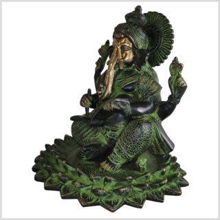 Ganesha Lotus 21cm 4kg Messing Seite links