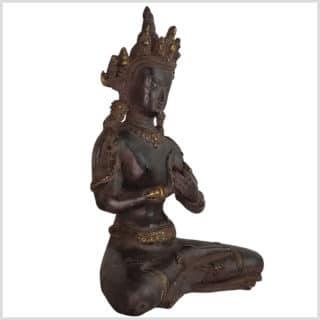 Dharmachakra Buddha dunkelviolett Pattina Handarbeit 26cm Seite rechts