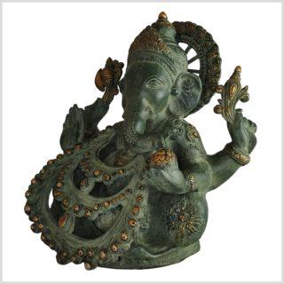 Ganesha . Gott des Reichtums und Geld Messing 28cm Seite links
