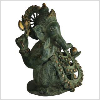 Ganesha . Gott des Reichtums und Geld Messing 28cm Seite rechts