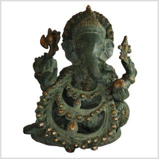 Ganesha . Gott des Reichtums und Geld Messing 28cm vorne