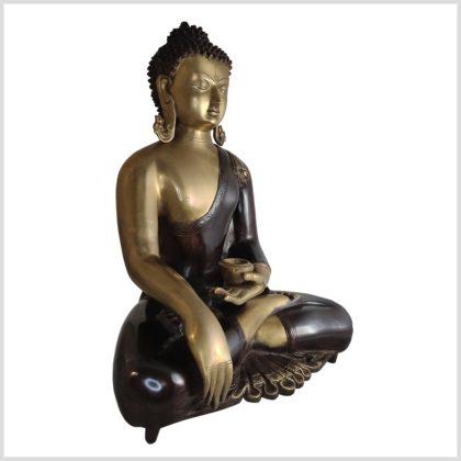 Kundal-Erdender-Buddha-15kg-51cm-Messing-Aubergine-Seite