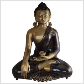 Kundal-Erdender-Buddha-15kg-51cm-Messing-Aubergine-vorne