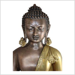 Medizinbuddha Kundal Messing Kupfer 51cm Gesicht