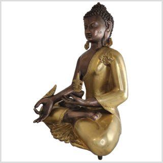 Medizinbuddha Kundal Messing Kupfer 51cm Seite links