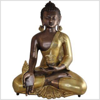 Medizinbuddha Kundal Messing Kupfer 51cm vorne