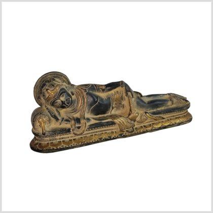 Liegender Hanuman Samadi schwarzantik 31cm