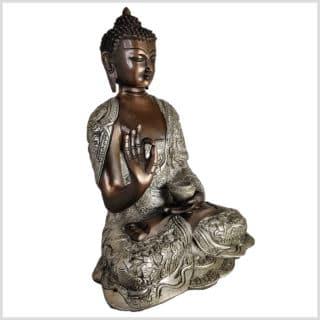 Lehrender Buddha Lifebuddha Kupfersilber 29cm 6kg rechts