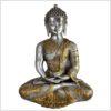 Erleuchteter Buddha Messing Silber 5,3kg vorne