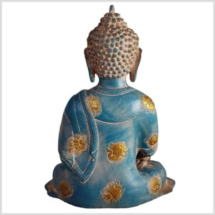 Medizinbuddha blaugold Ashtamangala 25cm hinten