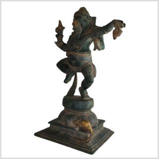Tanzender Ganesha 4,2kg antikgrün Seite links
