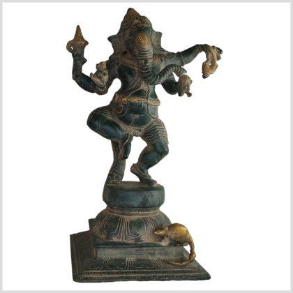 Tanzender Ganesha 4,2kg antikgrün vorne