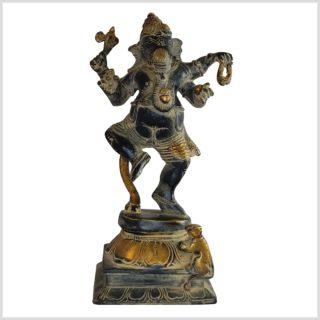 Tanzender Ganesha schwarzantik 24cm Vorderseite