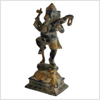 Tanzender Ganesha schwarzantik 24cm Seite links