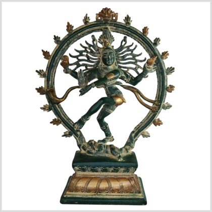 Tanzender Shiva antikgrün 31cm