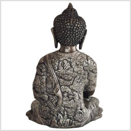 Medizinbuddha Messing verkupfert und versilbert 29cm 6kg hinten