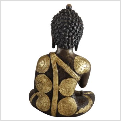 Erleuchteter Budda Messing Kupfer 32cm Ashtamangala hinten