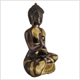 Vitarka Mudra Lehrender Buddha 32cm Messing Kupfer Seite rechts