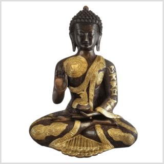 Vitarka Mudra Lehrender Buddha 32cm Messing Kupfer vorne