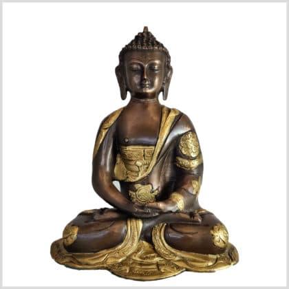 Erleuchteter Buddha Dhyana Mudra 25cm Vorderansicht