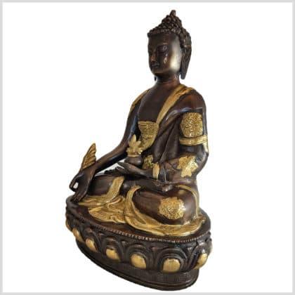 Medizinbuddha Messing Kupfer 31cm links