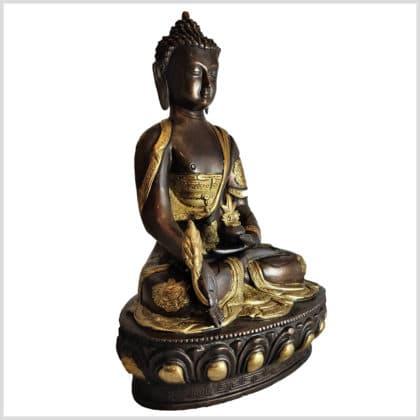 Medizinbuddha Messing Kupfer 31cm rechts