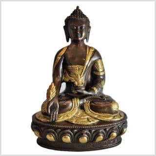 Medizinbuddha Messing Kupfer 31cm vorne