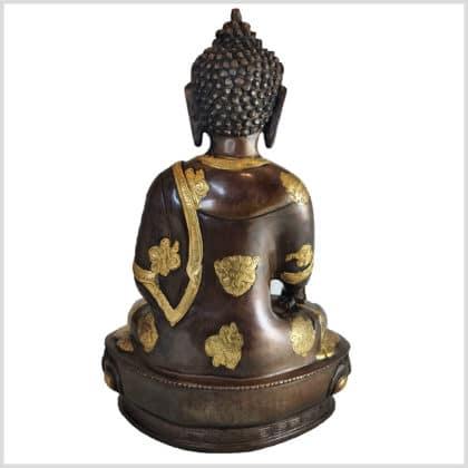 Medizinbuddha Messing Kupfer 31cm hinten