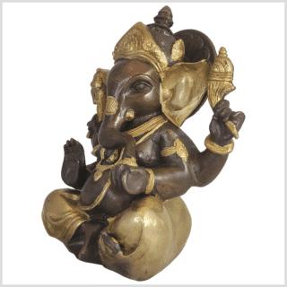 Ganesha Messing Kupfer 21cm Seite links