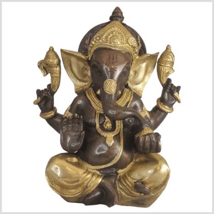 Ganesha Messing Kupfer 21cm Vorne