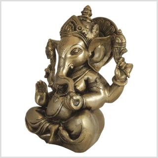 Ganesha Messing 21cm Elefantengott Seite links
