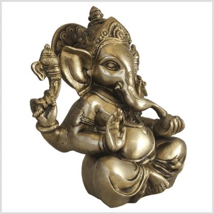 Ganesha Messing 21cm Elefantengott Seite rechts