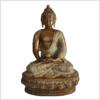 Erleuchteter Buddha Meditationsbuddha Messing Sandbeige 33cm vorne