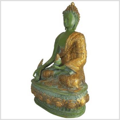 Medizinbuddha Lifebuddha 33cm mintgrün Seite links